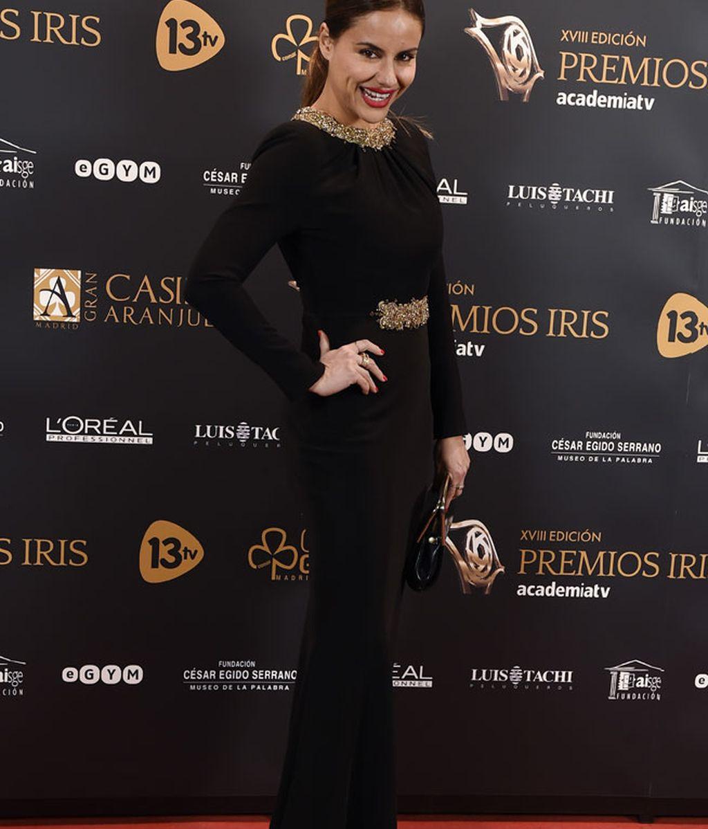 Mónica Hoyos lució un diseño de Rubén Hernández Costura