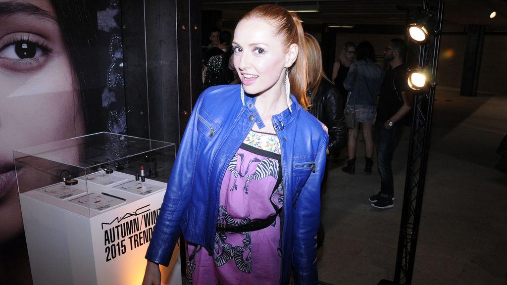La actriz Cristina Castaño tomó buena nota de las tendencias en maquilaje para el próximo otoño