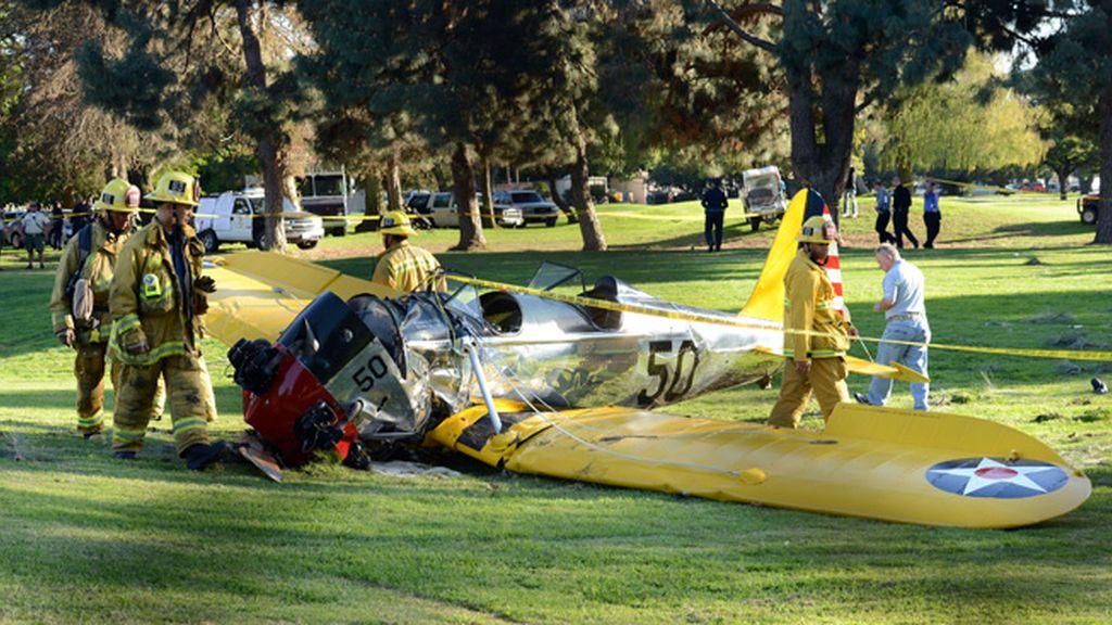 Así ha quedado la avioneta de Harrison Ford