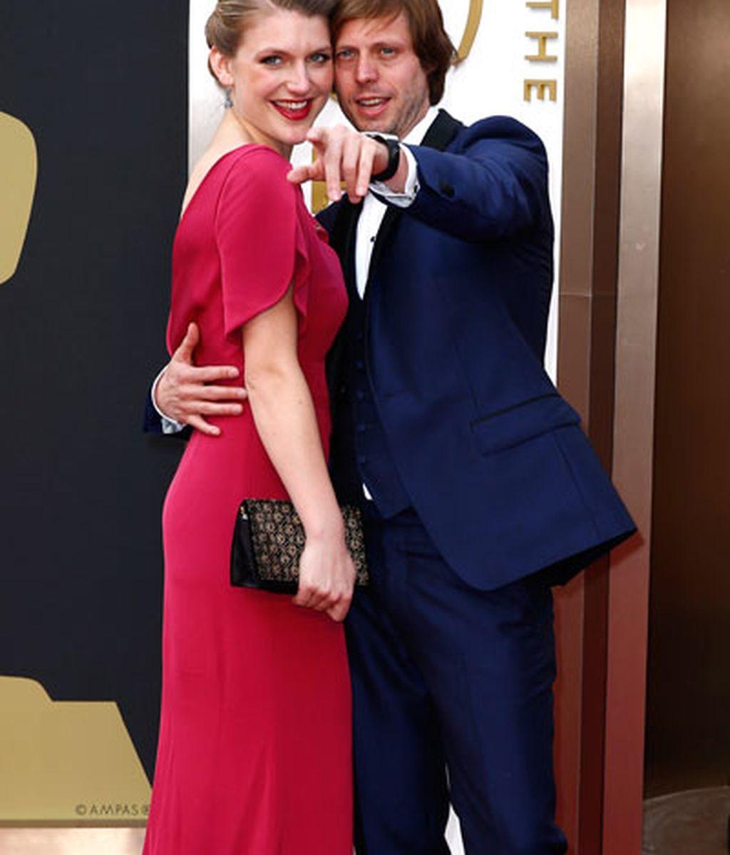El director belga Felix Van Groeningen y la actriz Veerle Baetens