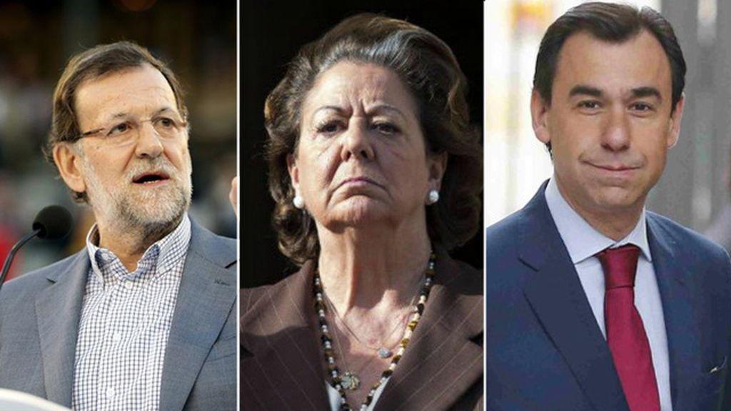Mariano Rajoy, Rita Barberá y Fernando Martínez-Maillo