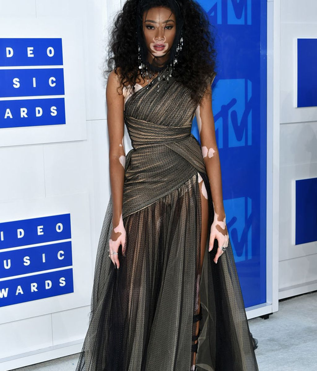 Winnie Harlow en los 'MTV MVA' en Madison Square