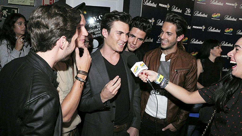 El grupo Dvicio fue uno de los que más expectación levantó entre la prensa y las fans