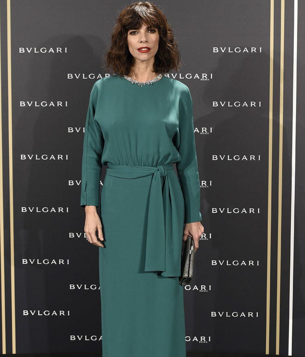 Maribel Verdú puso el toque de color con su 'look' en verde