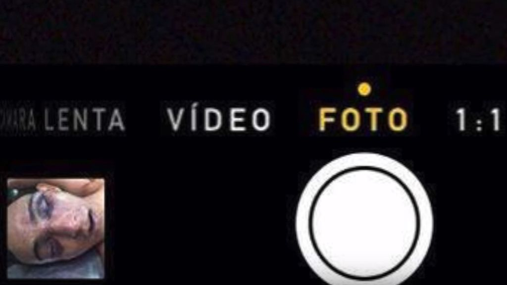 La tétrica imagen en el iphone