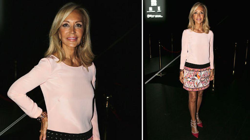 Carmen Lomana acude al desfile de Alvarno en la Fashion Week