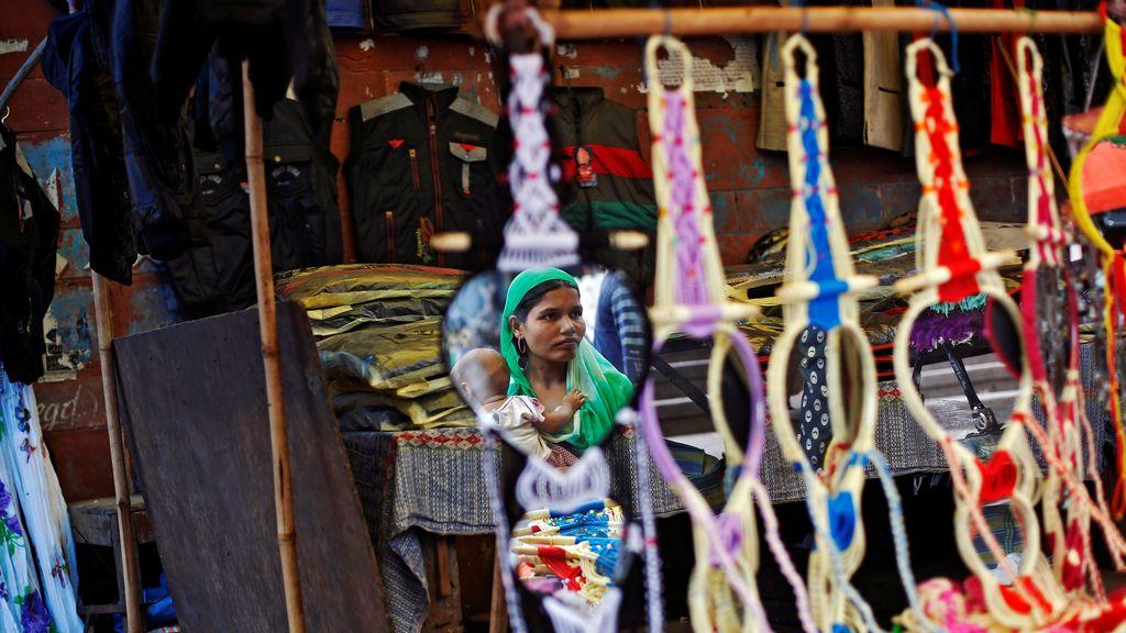 El colorido mercado de Delhi