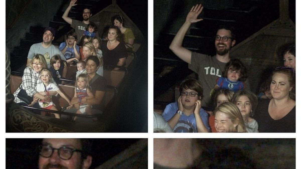 La aterradora reacción de una niña al subirse por primera vez en una atracción