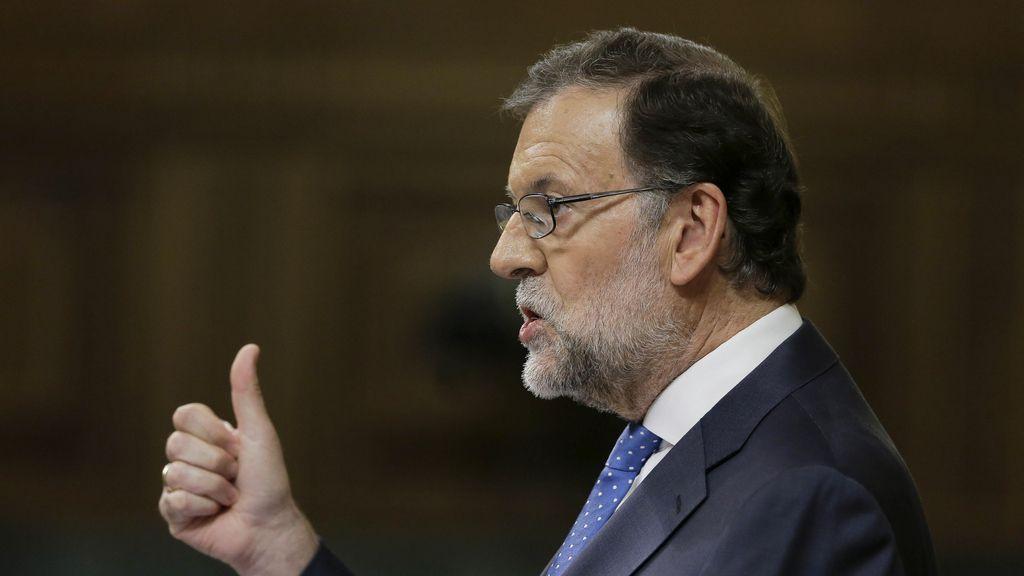 Mariano Rajoy, en pleno discurso de investidura