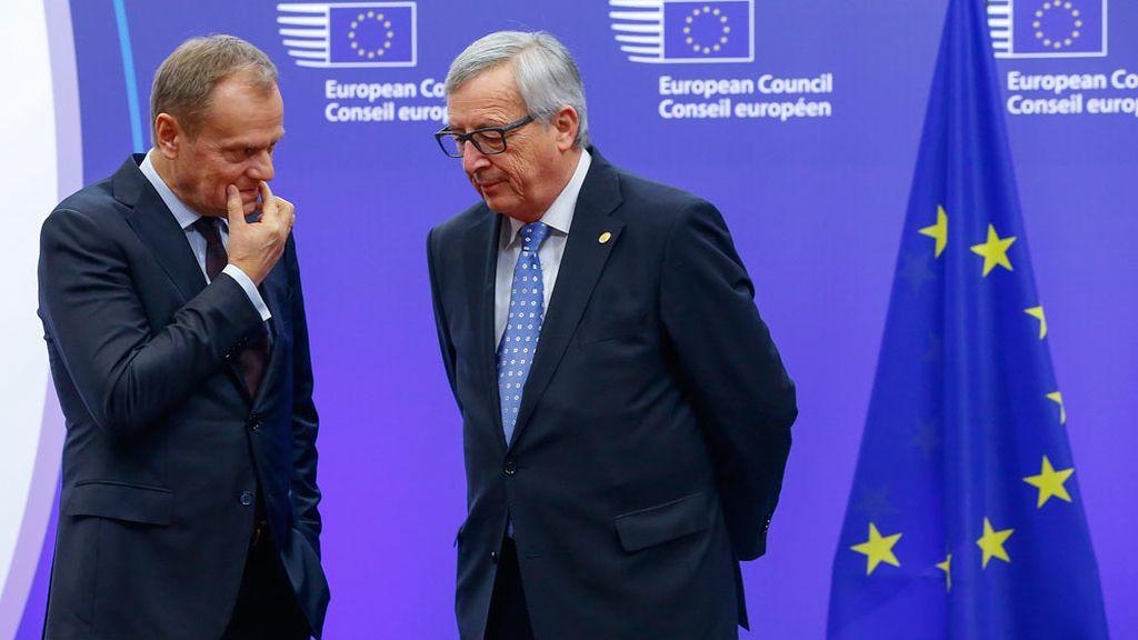 Donald Tusk y Jean-Claude Juncker