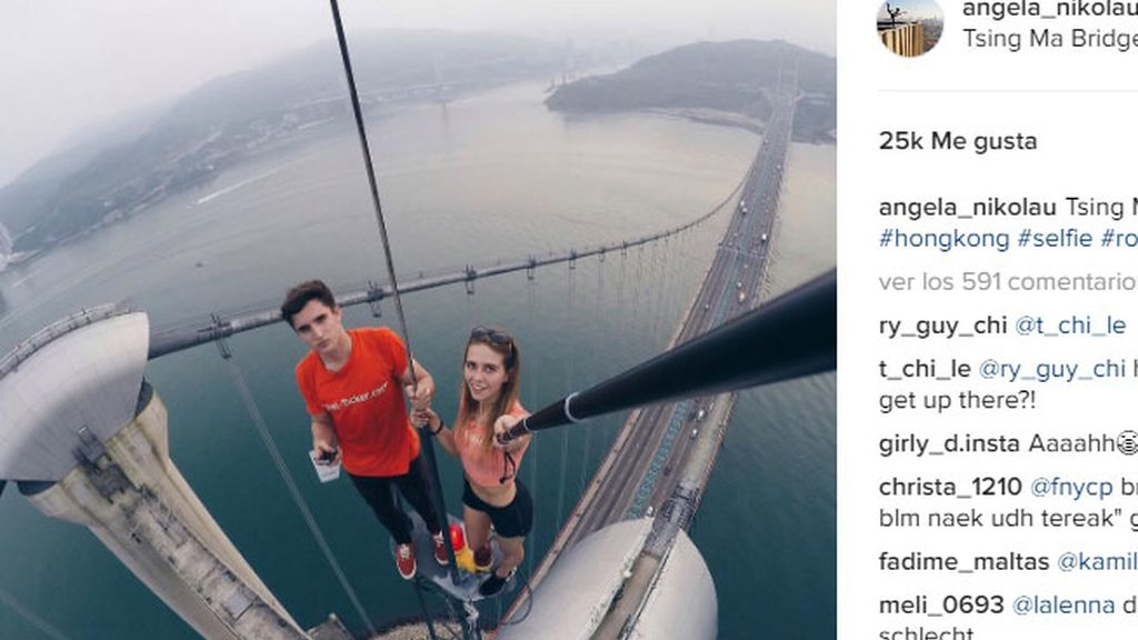 Una fotógrafa rusa se arriesga por fotos de altura