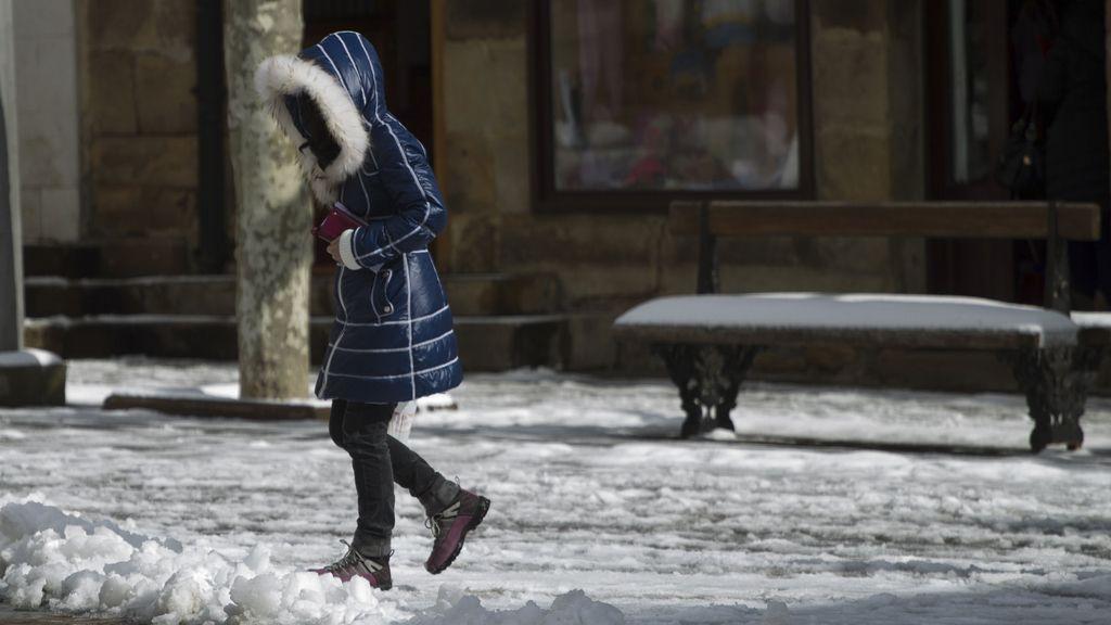 Fuertes nevadas en Cantabria