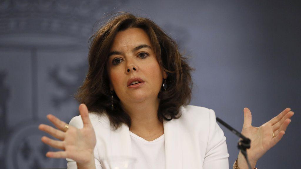 Soraya Sáenz de Santamaría, vicepresidente en funciones