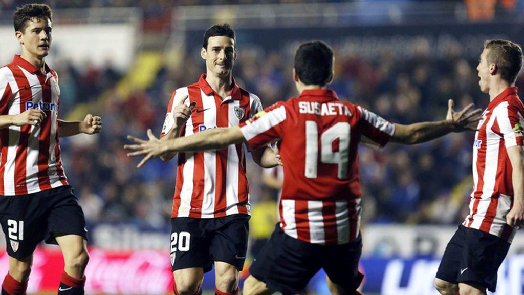 Victoria del Athletic de Bilbao frente al Levante