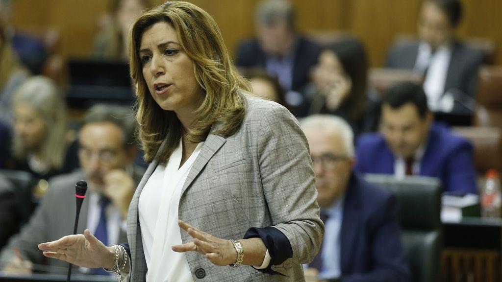 Susna Díaz en un pleno