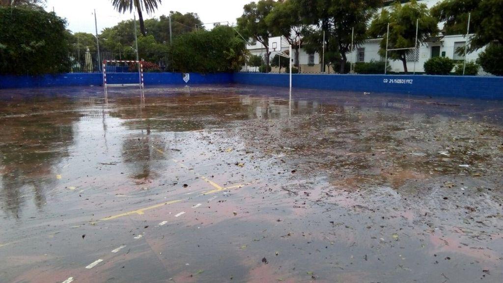 La capital afectada por las fuertes precipitaciones