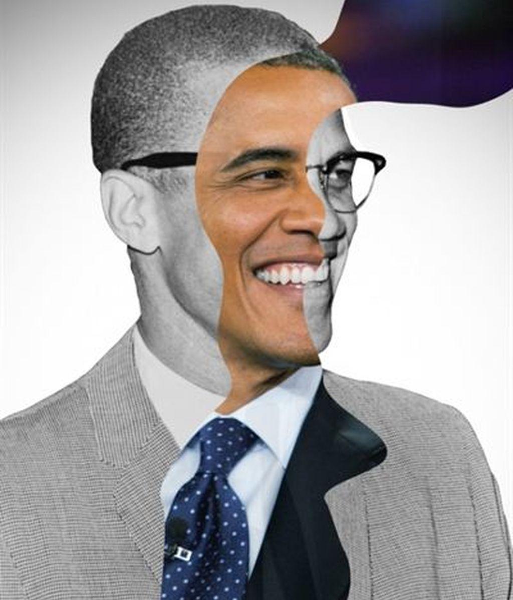 Barack Obama y Malcolm X
