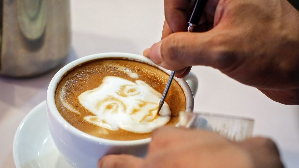 Dibujos en el café