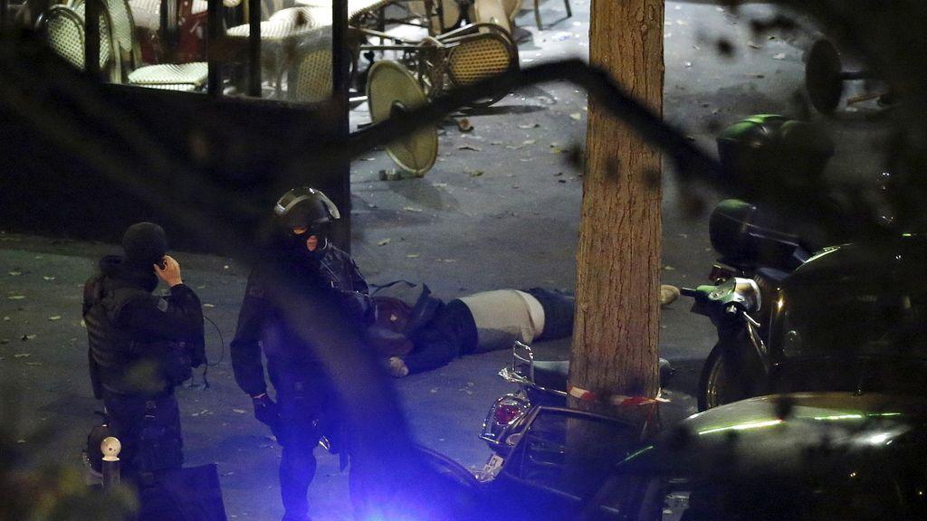 Momentos después del atentado