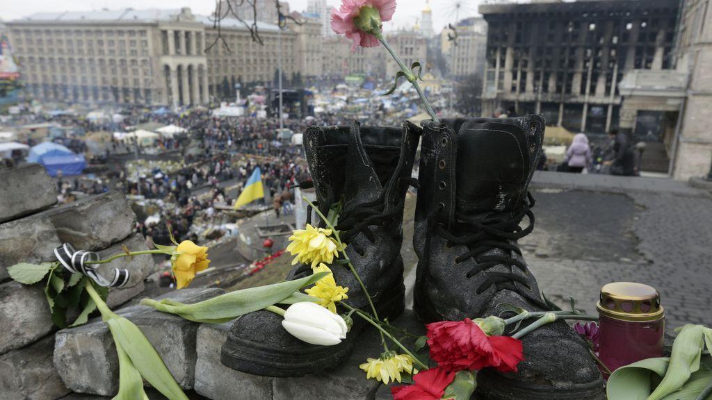Homenaje a los fallecidos en Ucrania
