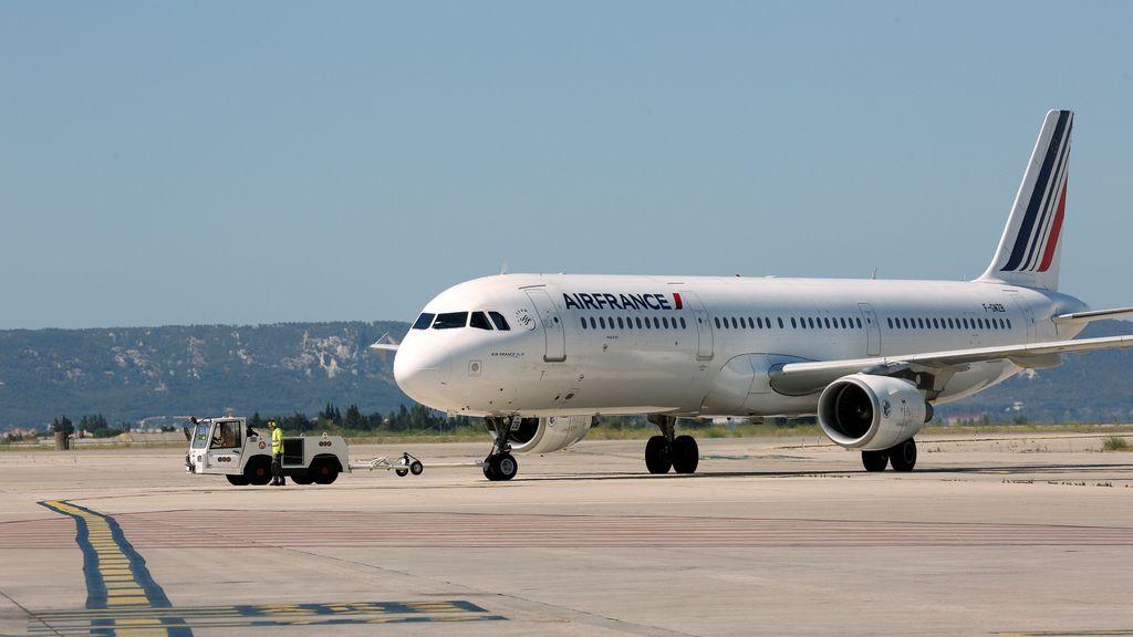 Los trabajadores de cabina de Air France en huelga