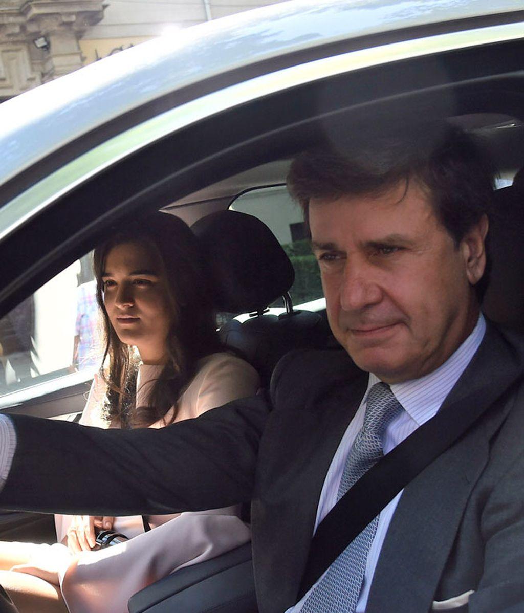 Cayetano y Bárbara Mirjan se han mostrado muy sonrientes