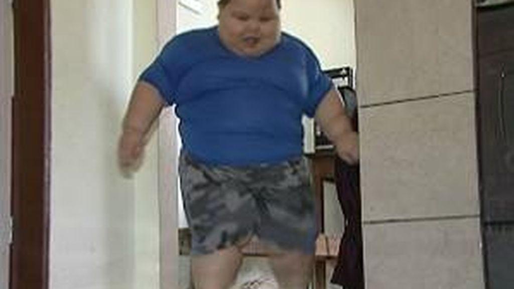 Con cinco años pesa casi 81 kilos