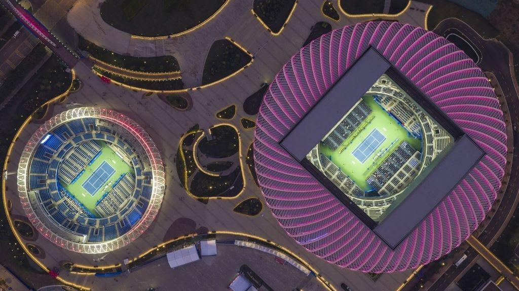 Espectaculares pistas de tenis en China