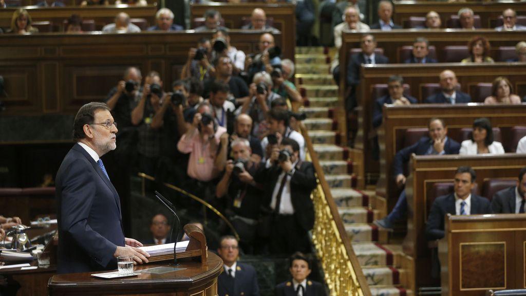 Mariano Rajoy da su primer discurso de investidura