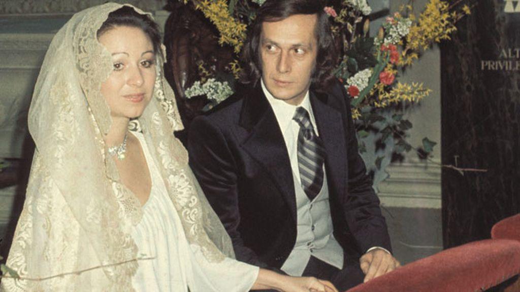 En su boda con Casilda Varela