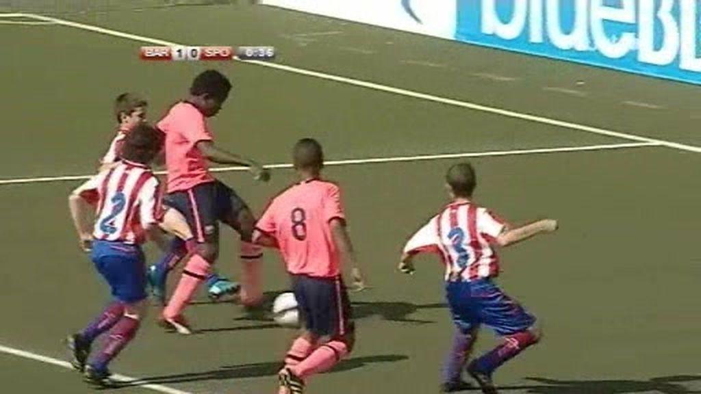Fútbol 7: El Barça vence al Sporting y se clasifica para semifinales
