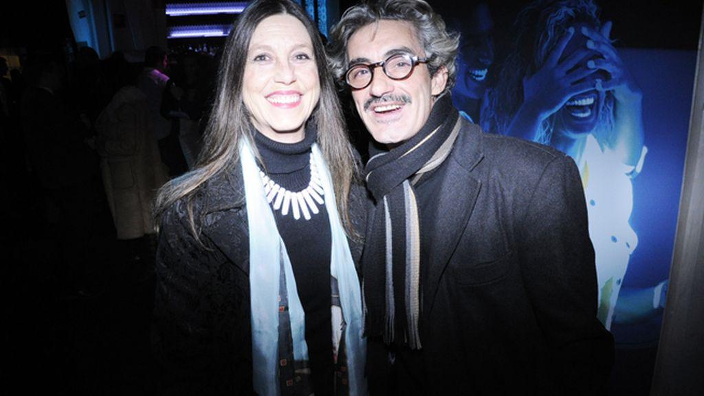 Micky Molina acudió a la fiesta junto a Sandra, su pareja