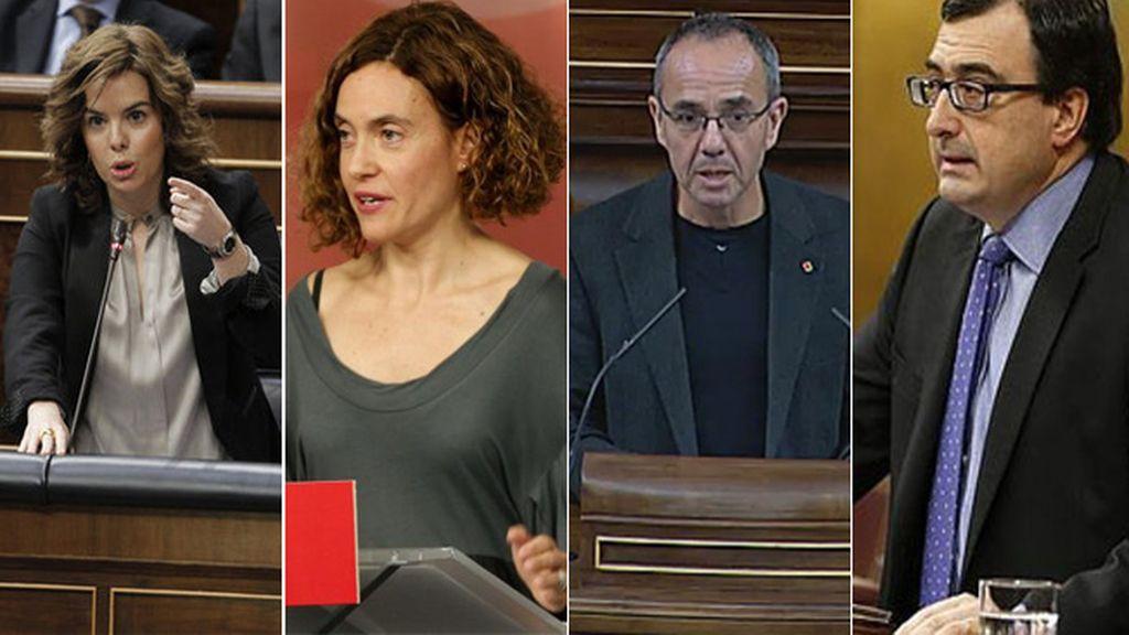 Soraya Sáenz de Santamaría,Meritxell Batet,Joan Coscubiela,Aitor Esteban