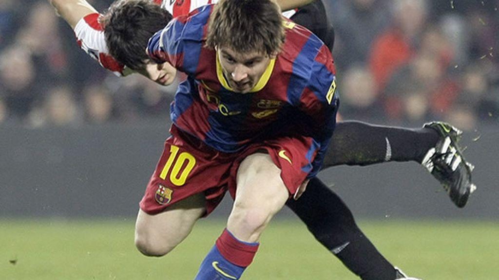 El planteamiento ultradefensivo del Athletic sirvió para neutralizar al Barça