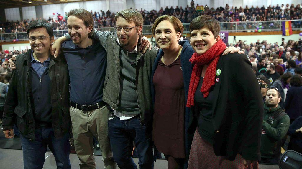 Pablo Iglesias en acto de campaña de En Comú Podem
