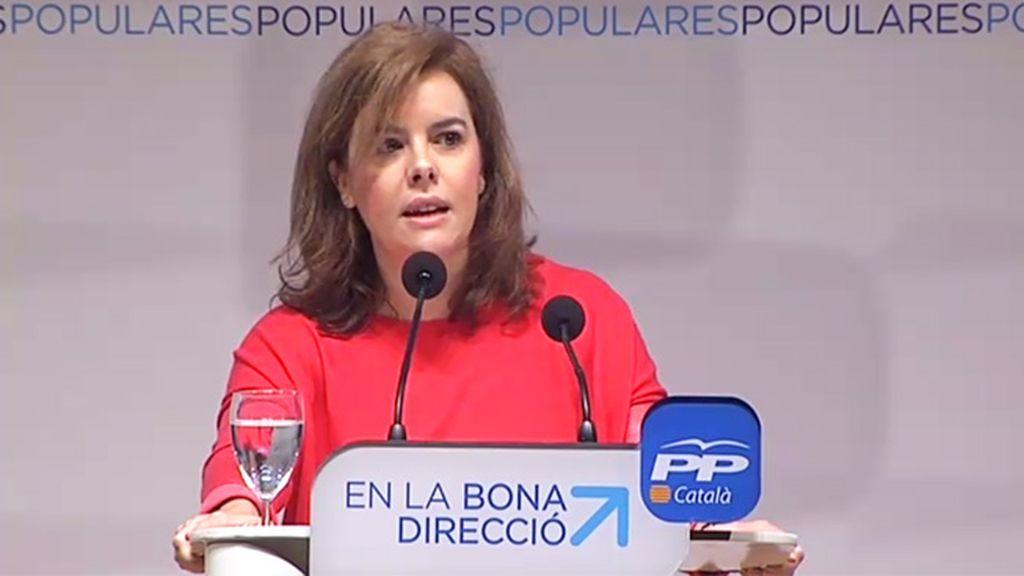 Santamaría advierte de que el Gobierno no dialogará sobre la soberanía