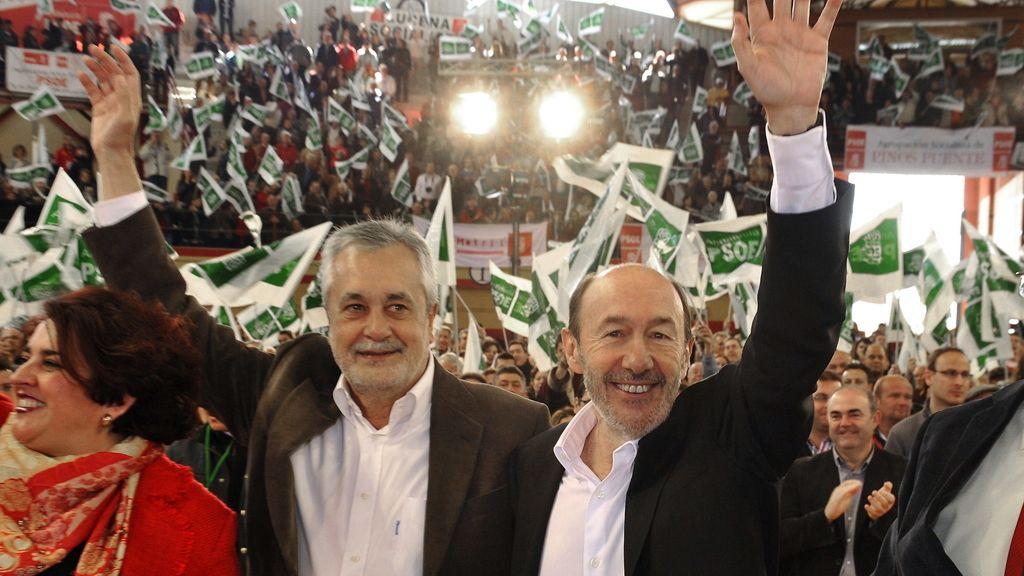 José Antonio Griñan y Alfredo Pérez Rubalcaba en una imagen de archivo
