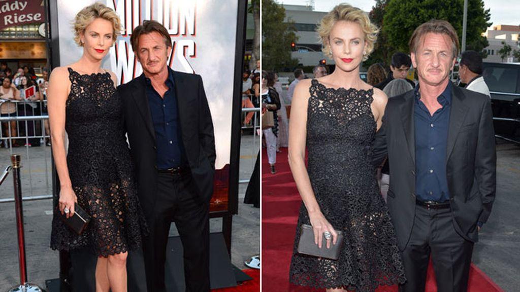 Charlize Theron y Seann Penn demostraron mucha complicidad