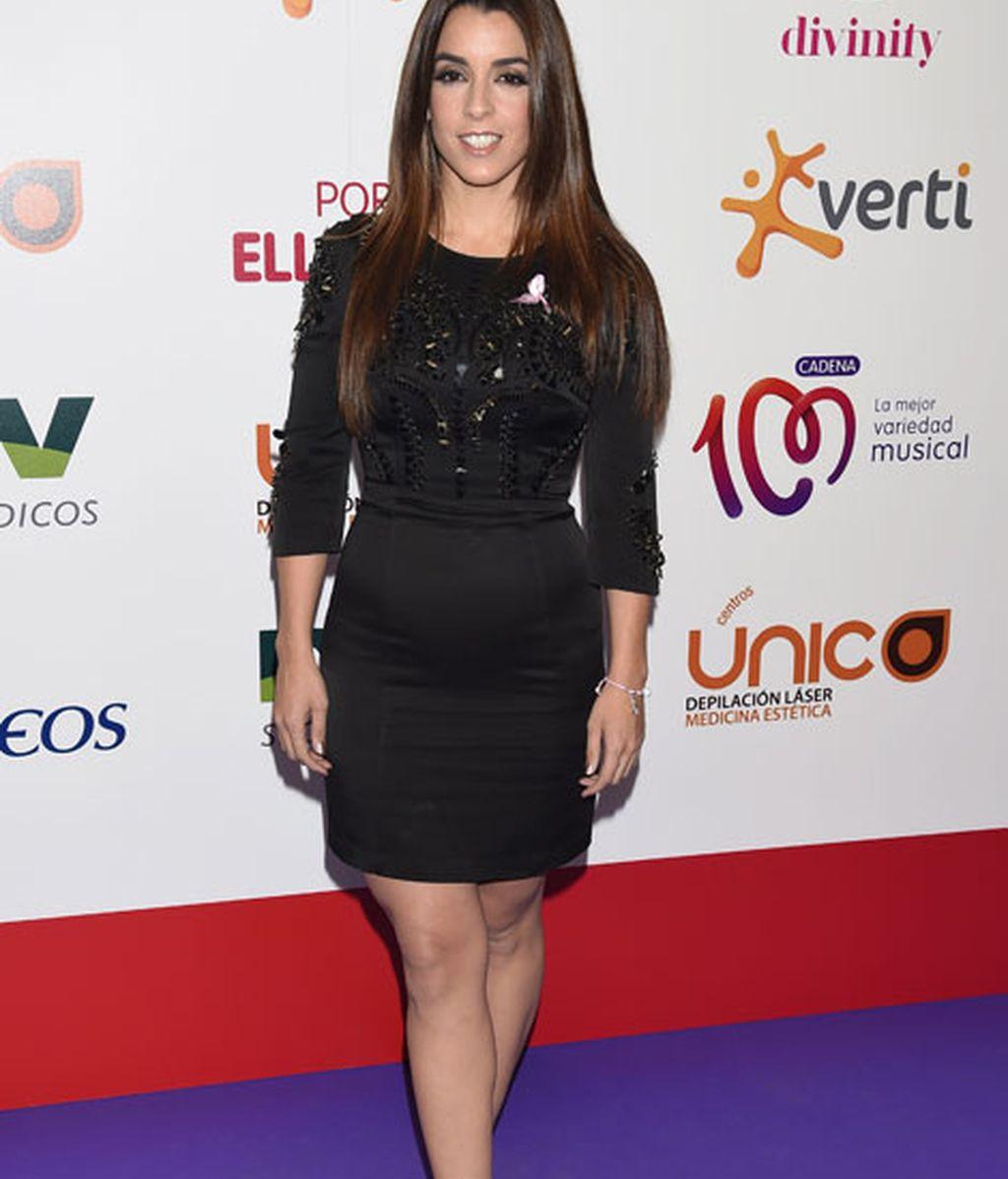 Ruth Lorenzo con un corto vestido negro