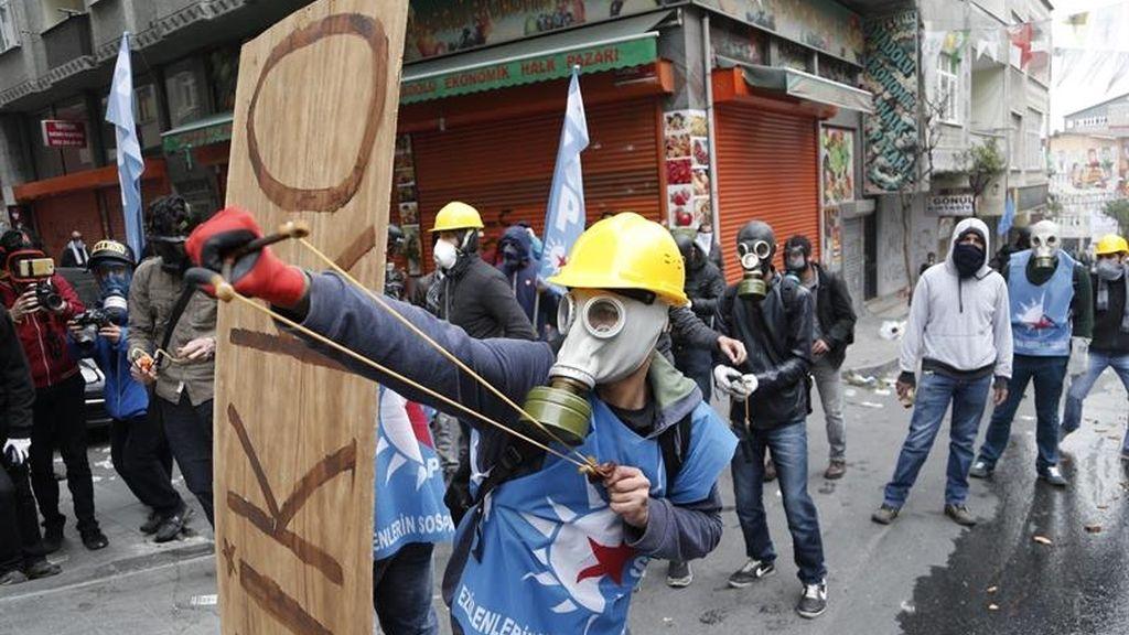 Protestas en Turquía en el Día Internacional de los Trajadores