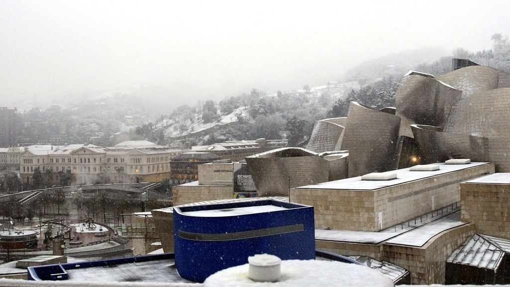 Nieve sobre Bilbao