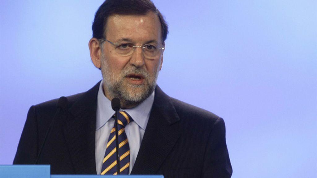 Mariano Rajoy declarando sobre los datos del paro