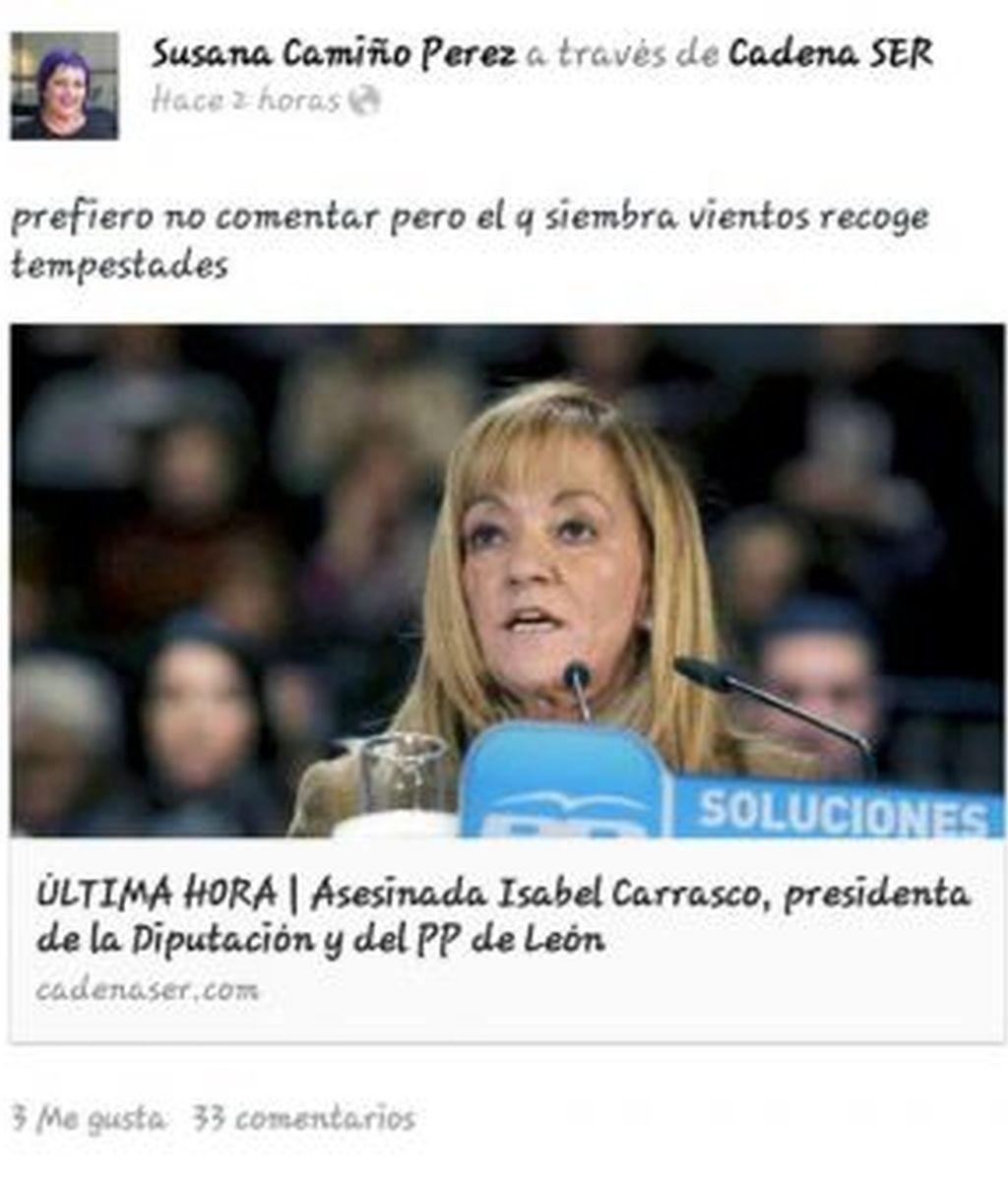 Dimite una concejal del PSdG de Vilagarcía por su comentario del asesinato de Carrasco