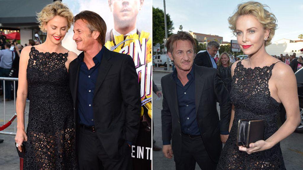 Charlize Theron y Sean Penn, posaron juntos en la alfombra roja
