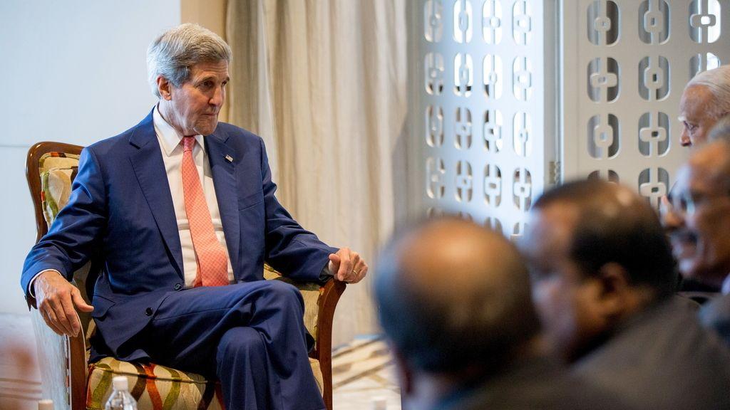 El secretario de Estado de Estados Unidos, John Kerry, en Sri lanka