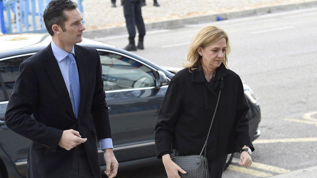 La infanta Cristina e Iñaki Urdangarin llegan a la audiencia en la reanudación del juicio del caso Nóos