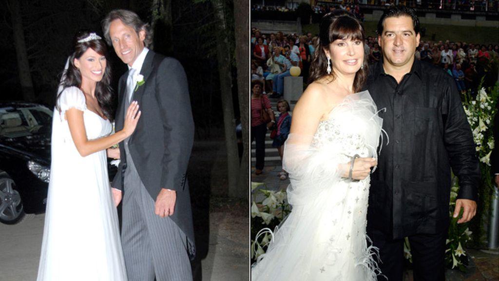 Sonia Ferrer y Carmen Martínez Bordiú, con vestidos de Pronovias el día de su boda