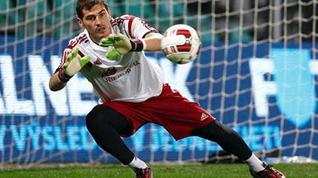 Iker Casillas entrena en Eslovaquia