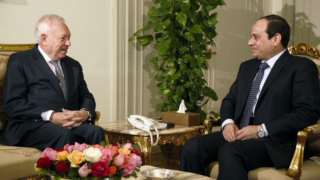 Margallo y el presidente de Egipto