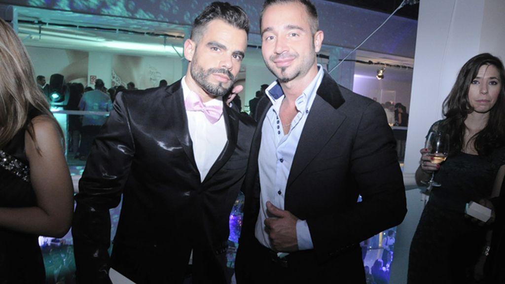 Rubén Martín Soto, de Le Showroom 0, junto a Martin Mazza